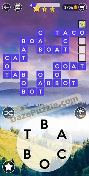 wordscapes March 3 2021 daily puzzle answer