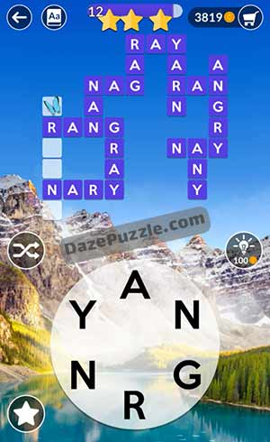 wordscapes june 25 2021 daily puzzle answer