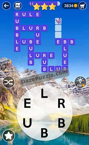 wordscapes june 26 2021 daily puzzle answer