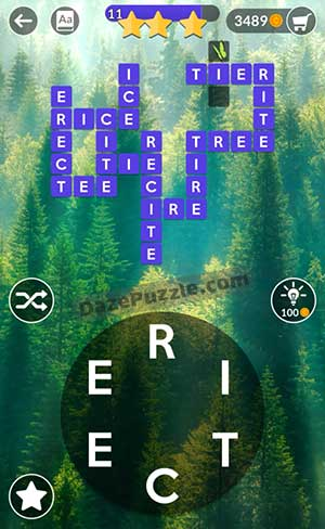 wordscapes july 18 2021 daily puzzle answer