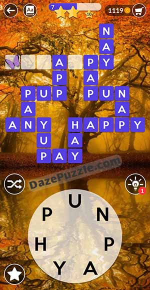 wordscapes august 22 2021 daily puzzle answer