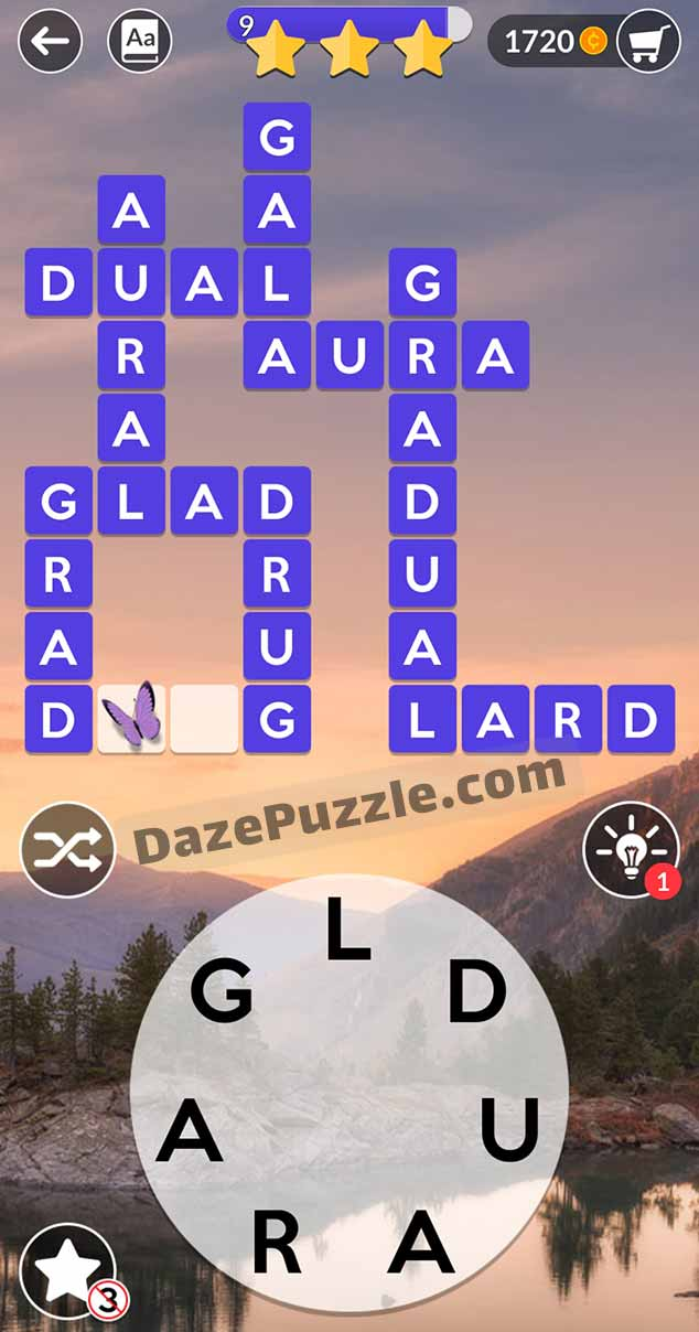 wordscapes september 1 2021 daily puzzle answer
