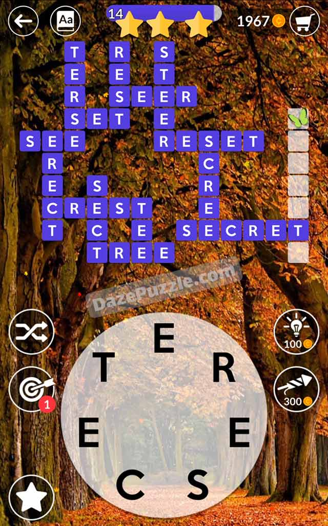 wordscapes october 1 2021 daily puzzle answer