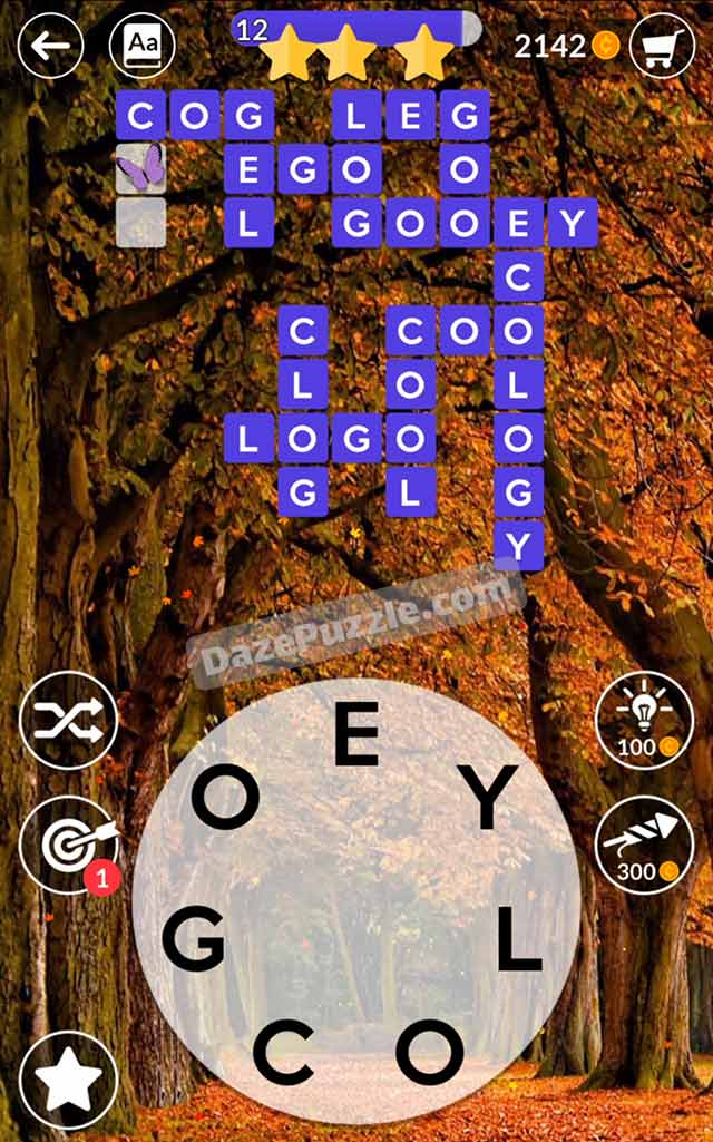 wordscapes october 12 2021 daily puzzle answer