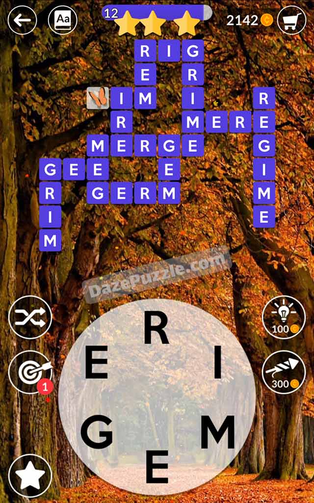 wordscapes october 13 2021 daily puzzle answer