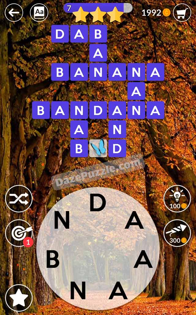 wordscapes october 3 2021 daily puzzle answer