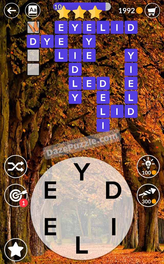 wordscapes october 5 2021 daily puzzle answer